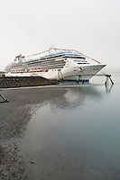 "Princess Cruise liner ""Island Princess"" docked in Whittier, Alaska."