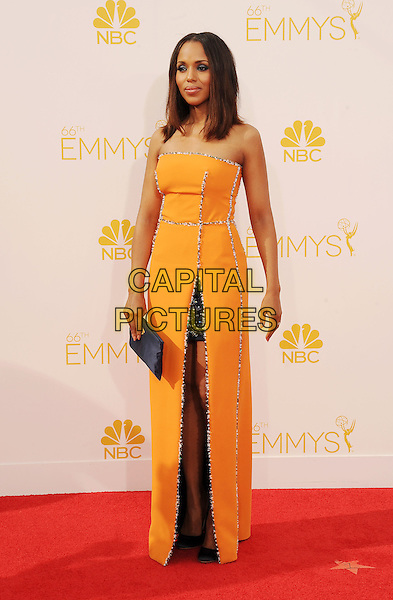 LOS ANGELES, CA- AUGUST 25: Actress Kerry Washington arrives at the 66th Annual Primetime Emmy Awards at Nokia Theatre L.A. Live on August 25, 2014 in Los Angeles, California.<br /> CAP/ROT/TM<br /> &copy;Tony Michaels/Roth Stock/Capital Pictures