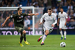 Mateo Kovacic (r) of Real Madrid fights for the ball with Tomasz Jodlowiec of Legia Warszawa during the 2016-17 UEFA Champions League match between Real Madrid and Legia Warszawa at the Santiago Bernabeu Stadium on 18 October 2016 in Madrid, Spain. Photo by Diego Gonzalez Souto / Power Sport Images