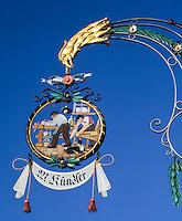 Switzerland, Canton St. Gallen, St. Gallen: carpenter's guild sign | Schweiz, Kanton St. Gallen, St. Gallen: Zunftschild, Schreinerei