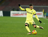 Alex Telles controls the ball during the Quartef-final of Tim Cup soccer match,between SSC Napoli and vFC Inter    at  the San  Paolo   stadium in Naples  Italy , January 19, 2016