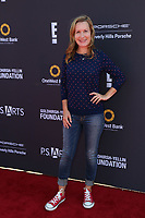 LOS ANGELES - OCT 8:  Angela Kinsey at the P.S. ARTS' Express Yourself 2017 at the Barker Hanger on October 8, 2017 in Santa Monica, CA