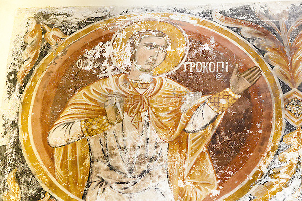 Wall painting, Church of the Holy Apostles, also known as Holy Apostles of Solaki, Ancient Agora of Athens, Athens, Greece <br /> CAP/MEL<br /> &copy;MEL/Capital Pictures /MediaPunch ***NORTH AND SOUTH AMERICA ONLY***