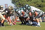 Palos Verdes, CA 10/08/10 - Cale Dester (South #8), James Pakzad (South #68), Rheid Thill (South #50) in action during the South Torrance Spartans vs Peninsula Panthers Varsity football game at Palos Verdes Peninsula High School.