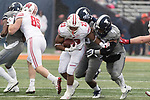Wisconsin Badgers running back Jonathan Taylor (23) carries the ball during an NCAA College Big Ten Conference football game against the Illinois Fighting Illini Saturday, October 28, 2017, in Champaign, Illinois. The Badgers won 24-10. (Photo by David Stluka)
