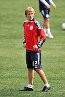 Tyler Lassiter (12) of the New York Red Bulls during practice on Media Day at Red Bull Arena in Harrison, NJ, on March 15, 2011.