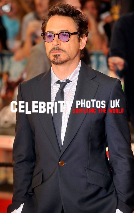 Robert Downey Jr attends the UK Premiere of The Avengers at Westfields, Shepherd's Bush, London, England, UK on 19th April 2012Picture By: Brian Jordan / Retna Pictures.. ..-..