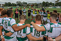 The Ealing Trailfinders team after the Friendly match between Ealing Trailfinders and Dragons  at Castle Bar , West Ealing , England  on 11 August 2018. Photo by David Horn / PRiME Media Images.