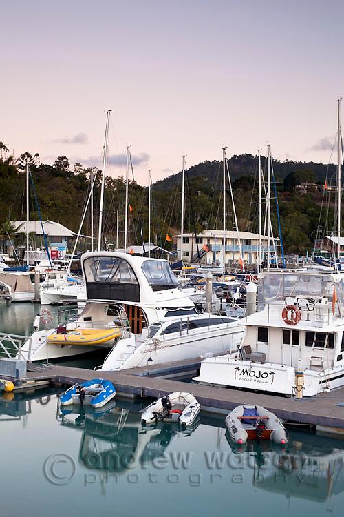 Yachts in Abel Point Marina.  Airlie Beach, Whitsundays, Queensland, Australia