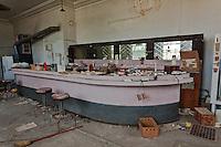 """Inside of Abandoned """"Ira's Bar"""" in Nara Visa, NM"""