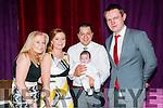 Baby Maci Gleeson with her parents Mary Flynn & Stefan Gleeson, Listowel and god parents Catherine Galvin & Maurice Kennelly who was christened in St. Mary's Church, Listowel by Canon Declan O'Connor on Saturday last and afterwards at the Mermaids Bar, Listowel.
