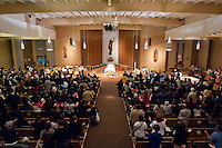 Easter Vigil  mass and ceremony at St Sebastian Catholic Church in Los Angeles.