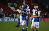 Blackburn Rovers' Charlie Mulgrew and Blackburn Rovers' Bradley Dack,  celebrate todays win at the end of todays match<br /> <br /> <br /> Photographer Rachel Holborn/CameraSport<br /> <br /> The EFL Sky Bet League One - Blackburn Rovers v Shrewsbury Town - Saturday 13th January 2018 - Ewood Park - Blackburn<br /> <br /> World Copyright &copy; 2018 CameraSport. All rights reserved. 43 Linden Ave. Countesthorpe. Leicester. England. LE8 5PG - Tel: +44 (0) 116 277 4147 - admin@camerasport.com - www.camerasport.com