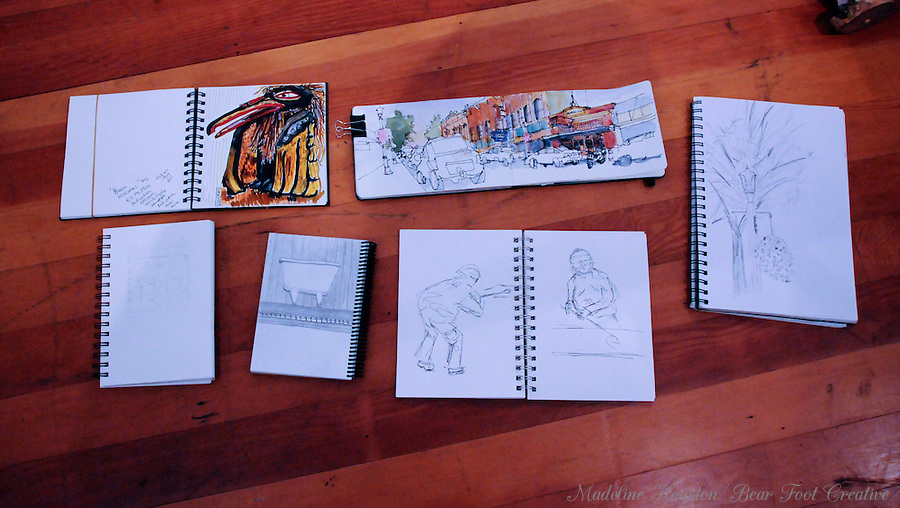 Results of the Centralia's September 2016 Third Thursday sketchcrawl, includes art by artists Sara Light-Waller, Jane Winfield, Karen Gibbau, <br />