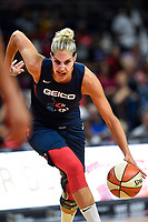Washington, DC - July 30, 2019: Washington Mystics forward Elena Delle Donne (11) drives to the basket during game between the Phoenix Mercury and the Washington Mystics at the Entertainment & Sports Arena in Washington, DC. The Mystics defeated the Mercury 99-93. (Photo by Phil Peters/Media Images International)