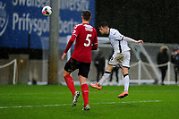 Liam Cullen of Swansea City u23s' scores his side's fifth goal during the Premier League 2 Division Two match between Swansea City u23s and Middlesbrough u23s at Swansea City AFC Training Academy  in Swansea, Wales, UK. Monday 13 January 2020.