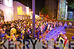 The large crowd who turned out for the street party in Killarney on New Year's Eve