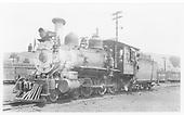 RGS 4-6-0 #20 at Durango.<br /> RGS  Durango, CO  8/20/1948