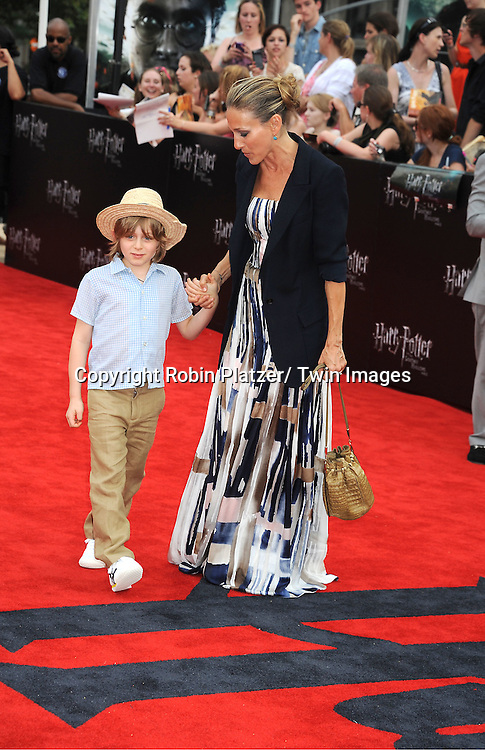 "Sarah Jessica Parker and son James Wilke Broderick arriving to the"" Harry Potter and the Deathly Hallows- Part 2""  North American Premiere on July 11, 2011 at Avery Fisher Hall in Lincoln Center in New York City."