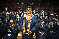 Friday, May 19, 2017, commencement exercises for Rogers Heritage High School at Bud Walton Arena on the campus of the University of Arkansas in Fayetteville. There are 437 graduates from the Rogers Heritage High School class of 2017.<br /> NWA Democrat-Gazette/DAVID GOTTSCHALK