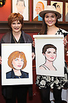 """Blair Brown and Phillipa Soo from the cast of """"The Parisian Woman"""" honored with a Sardi's Wall of Fame Portrait on February 28, 2018 at Sardi's in New York City."""