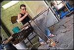 Il Maestro Vetraio Moreno Bardella al Glass Fest 2014 al Museo del vetro di Altare (SV).
