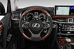 Car pictures of steering wheel view of a 2017 Lexus LX 570 5 Door SUV Steering Wheel