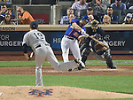 Daniel Murphy (Mets), SEPTEMBER 18, 2015 - MLB : New York Mets' Daniel Murphy hits a solo home run as New York Yankees starter Masahiro Tanaka throws the ball against the New York Yankees in the sixth inning of a baseball game in New York, United States. (Photo by AFLO)