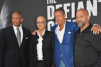 Dr. Dre, Jimmy Iovine, Richard Plepler &amp; Allen Hughes at the premiere for the HBO documentary series &quot;The Defiant Ones&quot; at the Paramount Theatre. Los Angeles, USA 22 June  2017<br /> Picture: Paul Smith/Featureflash/SilverHub 0208 004 5359 sales@silverhubmedia.com