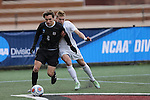 SALEM, VA - DECEMBER 3:Ian Adams (2) of Calvin College and Sterling Weatherbie (19) of Tufts University battle for the ball during theDivision III Men's Soccer Championship held at Kerr Stadium on December 3, 2016 in Salem, Virginia. Tufts defeated Calvin 1-0 for the national title. (Photo by Kelsey Grant/NCAA Photos)
