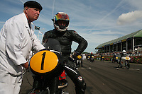 Goodwood Revival, 2007.Wayne Gardner wins both legs of the barry Sheene Memorial. The Goodwood revival is one of the largest historic car races events in the world; 3 days of racing at the highest level with some of the best pilots past and present driving historically important cars to the limit...and sometimes beyond! 110 000 spectators and participants gather in period costumes for a unique event.