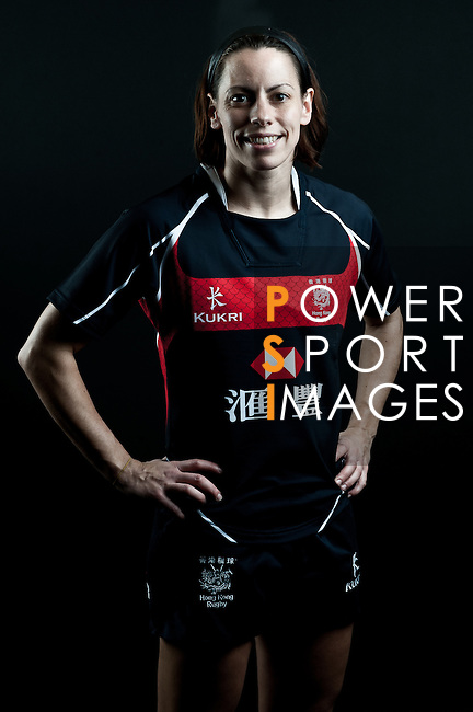 Tanya Young poses during the Hong Kong 7's Squads Portraits on 5 March 2012 at the King's Park Sport Ground in Hong Kong. Photo by Andy Jones / The Power of Sport Images for HKRFU