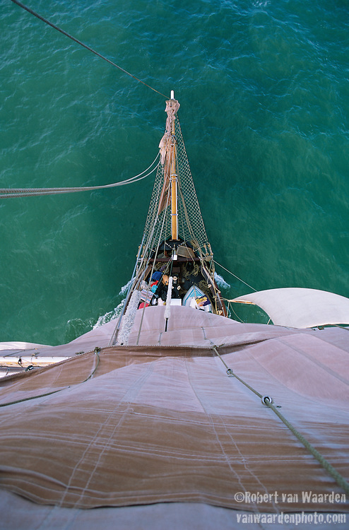 The tallship Eye of the Wind sails through the Atlantic waters