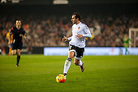 VALENCIA, SPAIN - DECEMBER 5: Valencia Player during BBVA LEAGUE match between Valencia C.F. and FC Barcelona at Mestalla Stadium on December 5, 2015 in Valencia, Spain