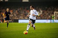 VALENCIA, SPAIN - DECEMBER 5: Valencia Player during BBVA LEAGUE match between Valencia C.F. and FC Barcelona at Mestalla Stadium on December 5, 2015 in Valencia, Spain