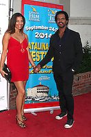 Dana Derrick, Kristoff St. John <br /> at the Catalina Film Festival Gala, Casino Avalon, Catalina Island, CA 09-27-14<br /> David Edwards/DailyCeleb.com 818-915-4440