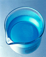 NITRATE SALT SOLUTIONS: COLOR OF METAL IONS<br /> Cupric Nitrate-Cu(NO3)2(aq) is Blue