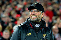 Liverpool manager Jürgen Klopp  looks on<br /> <br /> Photographer Richard Martin-Roberts/CameraSport<br /> <br /> UEFA Champions League Group C - Liverpool v Napoli - Tuesday 11th December 2018 - Anfield - Liverpool<br />  <br /> World Copyright © 2018 CameraSport. All rights reserved. 43 Linden Ave. Countesthorpe. Leicester. England. LE8 5PG - Tel: +44 (0) 116 277 4147 - admin@camerasport.com - www.camerasport.com
