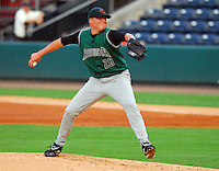 22 Aug 2007: Kevin Pucetas of the Augusta GreenJackets, Class A South Atlantic League affiliate of the San Francisco Giants, in a game against the Greenville Drive at West End Field in Greenville, S.C. Photo by:  Tom Priddy/Four Seam Images