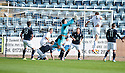 Morton's Tomas Peciar (4) scores their first goal.