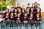 Pictured on their first day of school at Holy Family National School, Tralee on Monday morning last were front l-r: Evan O'Sullivan, Luke Madichie, Valentine Iglesias Thubeauville, Christina O'Connor with Tiegan and Edel Rose Beer. Middle row l-r: Margaret Bentley Coffey, Mateusz Stefan, Aaron O'Sullivan, Charlotte Rigney, Katelynn O'Brien, Érin Curley Guinnane, Summer Zhang and Tiernan Mullins. Back row l-r: Siobhan Morrissey (Teacher), Jan Lange, Ryan Healy, Coby McMahon,Tadhg Lawlor, Denis Kerins, Susie Moore (SNA) and Evan Griffin.