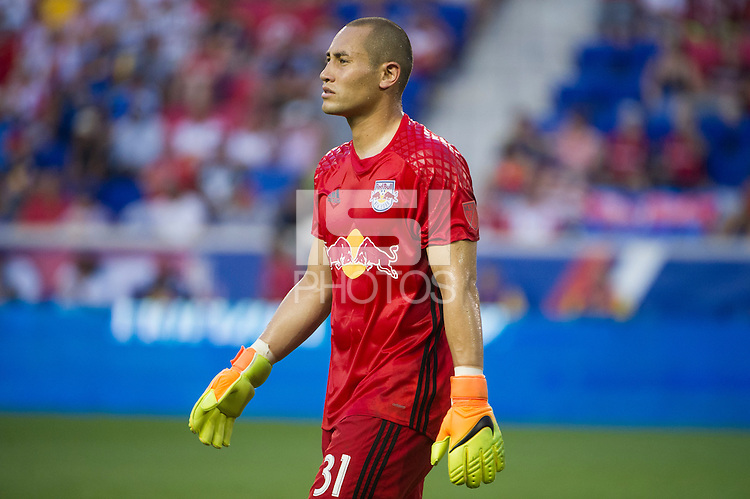 HARRISON, NJ - Saturday August 13, 2016: The New York Red Bulls defeat the Montreal Impact 3-1 at home at Red Bull Arena during the 2016 MLS regular season.