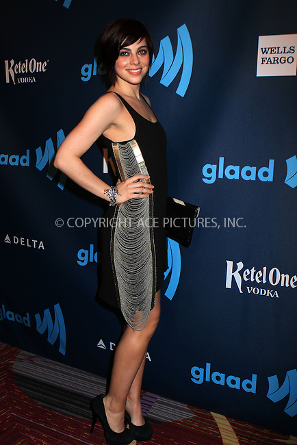 WWW.ACEPIXS.COM....March 16 2013, New York City....Krysta Rodriquez arriving at the 24th annual GLAAD Media awards at The New York Marriott Marquis on March 16, 2013 in New York City.....By Line: Nancy Rivera/ACE Pictures......ACE Pictures, Inc...tel: 646 769 0430..Email: info@acepixs.com..www.acepixs.com