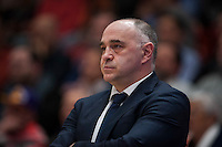 VALENCIA, SPAIN - FEBRUARY 28: Pablo Laso during ENDESA LEAGUE match between Valencia Basket Club and Real Madrid at Fonteta Stadium on   February, 2016 in Valencia, Spain