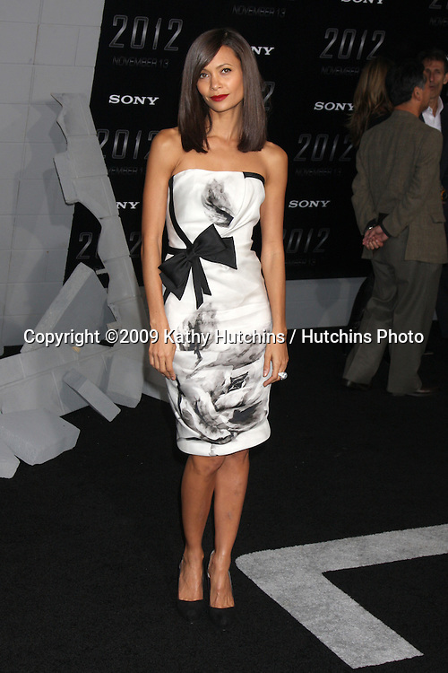 "Thandie Newton.arriving at the ""2012"" Premiere.Regal 14 Theaters at LA Live.West Hollywood,  CA.November 3, 2009.©2009 Kathy Hutchins / Hutchins Photo."