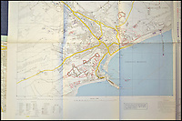 BNPS.co.uk (01202 558833)<br /> Pic: HAldridge/BNPS<br /> <br /> Dover - The Germans had access to detailed maps of south coast sites showing key targets.<br /> <br /> A top secret post war analysis by British Naval intelligence that offers a detailed and chilling account of the German equivalent of the D-Day landings has been uncovered.<br /> <br /> The volume was compiled by the British based on documents recovered in German naval archives after the war that outlined the Nazi invasion of the UK.<br /> <br /> And the blueprint for Operation Sealion that was to have taken place in September 1940 is remarkably similar to Operation Overlord - the Allied invasion of Normandy - four years later.<br /> <br /> Adolf Hitler identified five different sectors of the English coast to attack with 600,000 men ; from Ramsgate in Kent in the east to Selsey Bill in West Sussex in the west.