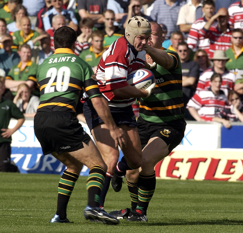 Photo. Henry Browne..06/09/2003..Northampton Saints v Gloucester pre season friendly..Andy Hazell