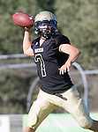 Palos Verdes, CA 10/27/17 - Aidan Kuykendall (Peninsula #7)in action during the Morningside Monarchs - Palos Verdes Peninsula Varsity football game at Peninsula High School.