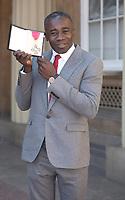 19 April 2017 - London, England - Christopher Ofili. Investitures at Buckingham Palace. Photo Credit: Alpha Press/AdMedia