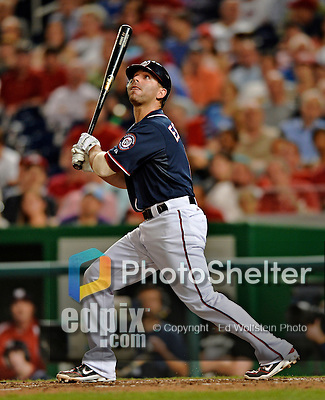 16 May 2012: Washington Nationals infielder Danny Espinosa in action against the Pittsburgh Pirates at Nationals Park in Washington, DC. The Nationals defeated the Pirates 7-4 in the first game of their 2-game series. Mandatory Credit: Ed Wolfstein Photo